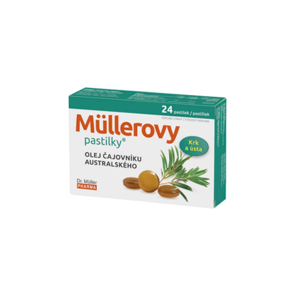 DR. MÜLLER DR. MÜLLER Pastilky s olejom čajovníka austrálskeho 24 kusov