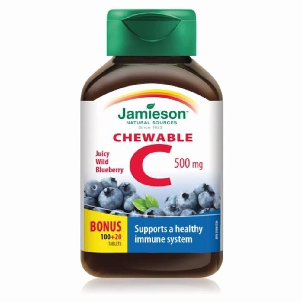 Jamieson JAMIESON Vitamín C 500 mg s príchuťou čučoriedky 120 cmúľacích tabliet
