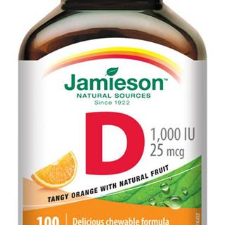 Jamieson vitamín d3 1000 iu pomaranč