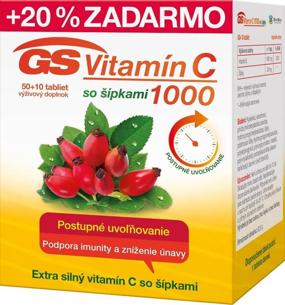 GS GS Vitamín C 1000 so šípkami 2016