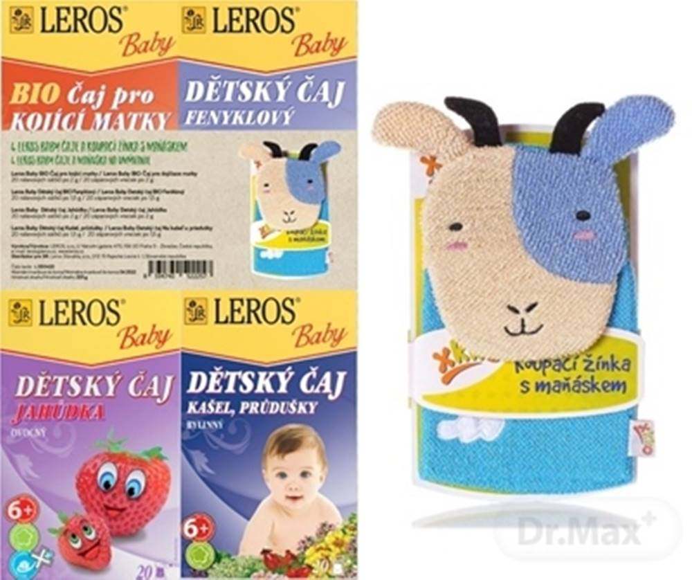 Leros Leros baby 4 čaje a maňuška na umývanie