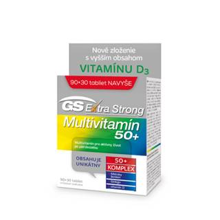 GS Extra strong multivitamin 50+ 90 + 30 tabliet ZADARMO