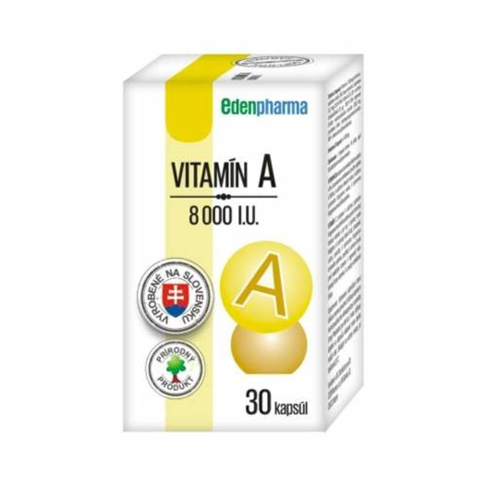 Edenpharma EDENPHARMA Vitamín A 8000 I.U. 30 kapsúl