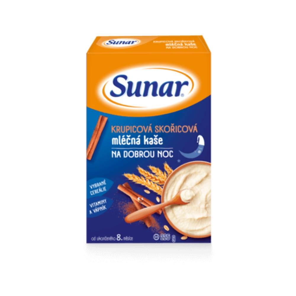 Sunar SUNAR Krupicová škoricová mliečna kaša dobrú noc 225 g