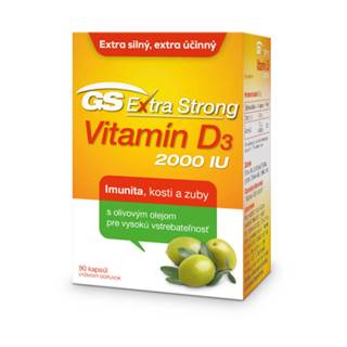 GS Extra strong vitamín D3 2000 IU 90 tabliet