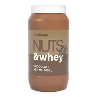 GYMBEAM Proteínové arašidové maslo Nuts & Whey príchuť čokoláda 1 kg