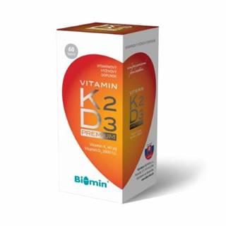 BIOMIN vitamín K2 + vitamín D3 2000 IU premium 60 kapsúl