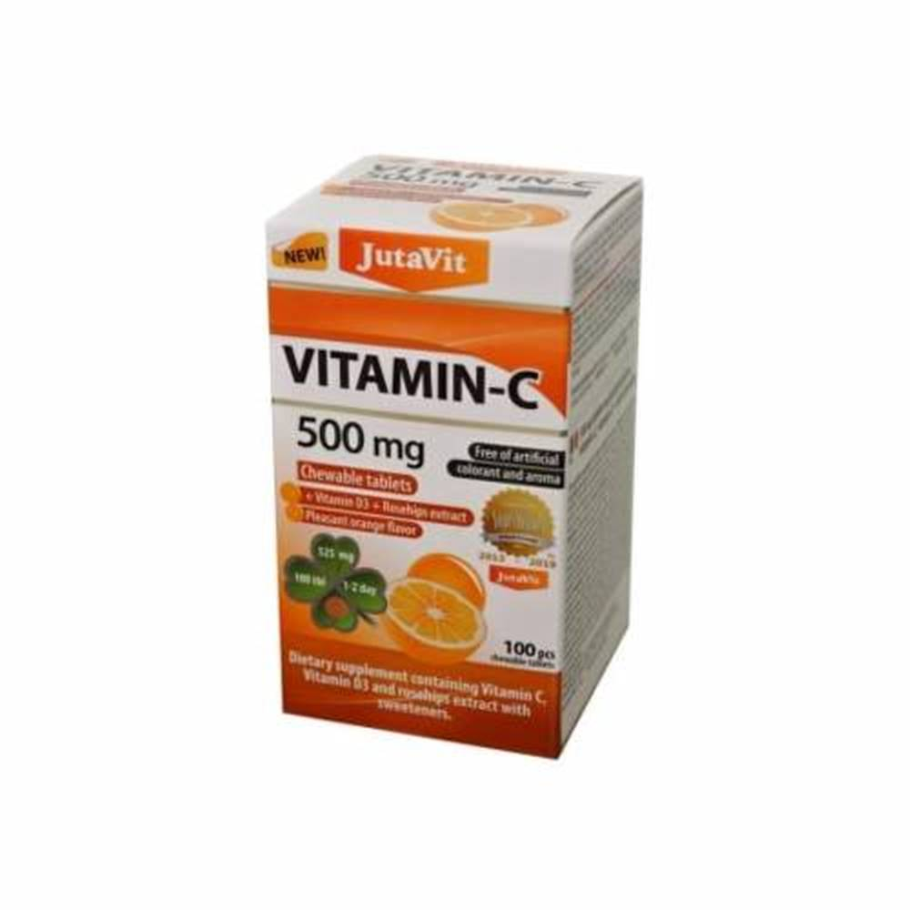 JUTAVIT JUTAVIT Vitamín C 500 mg s príchuťou pomaranča 100 žuvacích tabliet