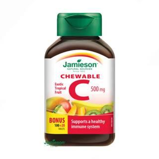 JAMIESON Vitamín C 500 mg tropické ovocie 120 tabliet