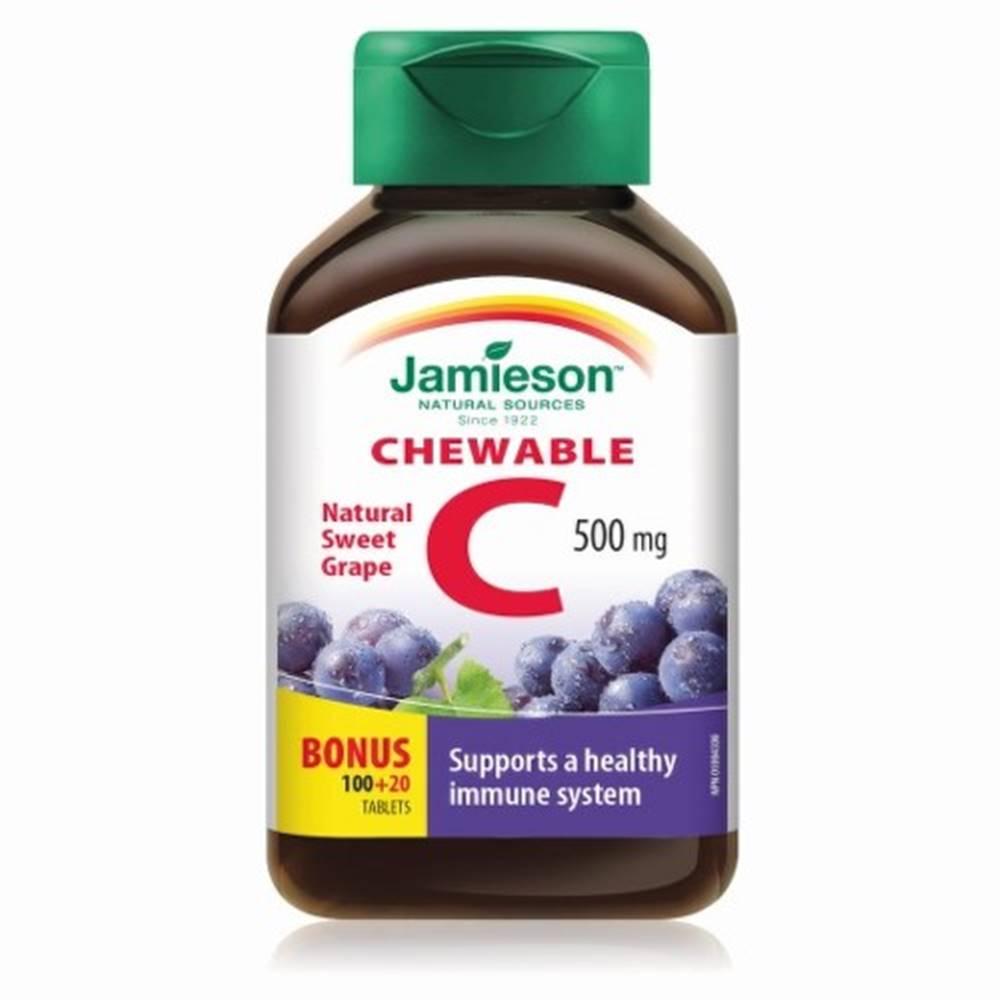 Jamieson JAMIESON Vitamín C 500 mg hrozno 120 tabliet