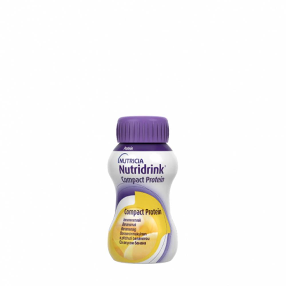 Nutricia a.s. NUTRIDRINK COMPACT PROTEIN s banánovou príchuťou 24x125 ml