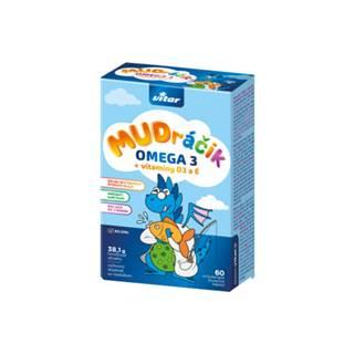 VITAR Mudráčik omega 3 + vitaminy D3 a E s príchuťou tutti-frutti 60 žuvacích kapsúl