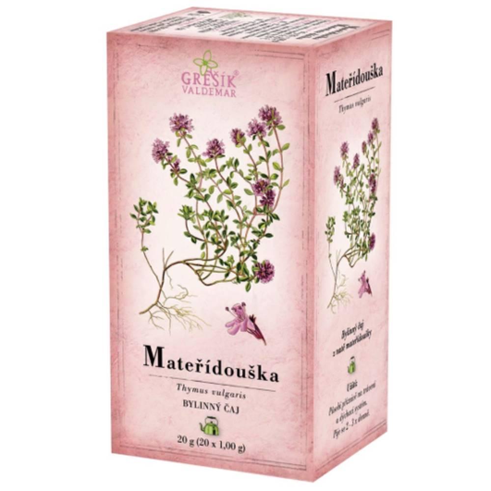 Grešík GREŠÍK Materina dúška bylinný čaj 20 x 1 g