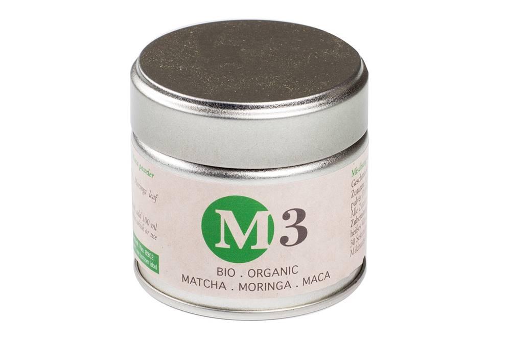 Manu tea M3 - MATCHA, MORINGA, MACA BIO - 30g