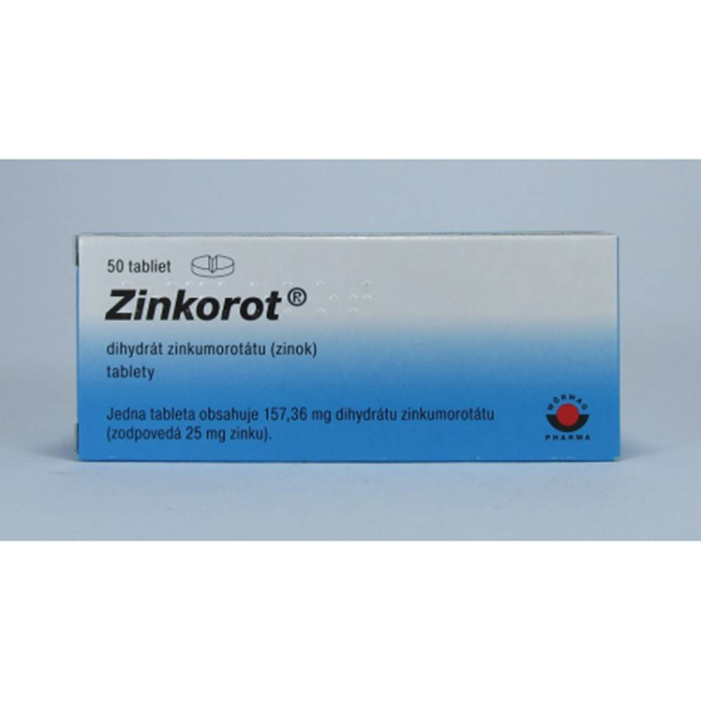Wörwag Pharma Zinkorot tbl.50 x 25 mg
