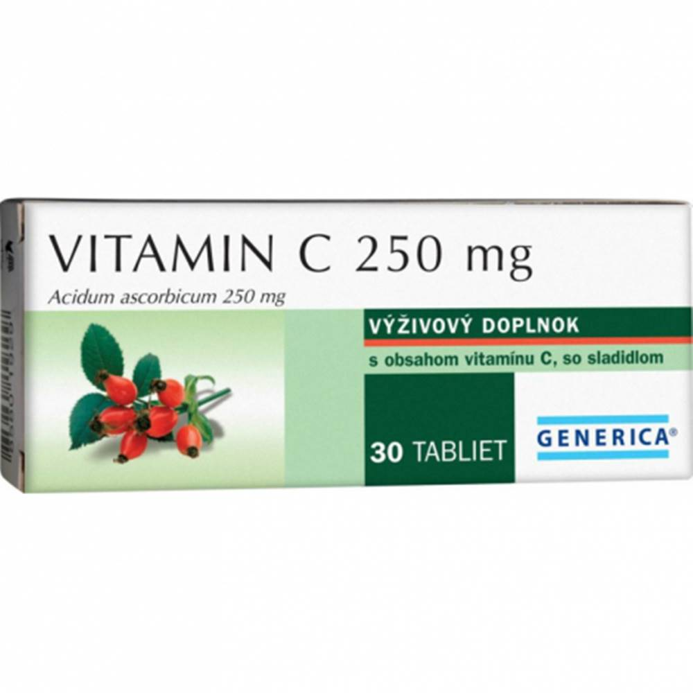 Generica Generica Vitamín C 250mg 30 tbl