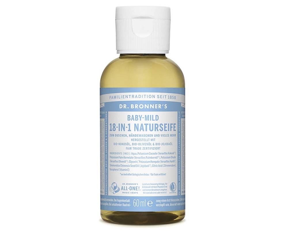 Dr. Bronner's Dr. Bronner's Tekuté kastílske mydlo Baby-Mild bez vône 60 ml