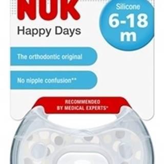 NUK CUMLÍK CLASSIC HAPPY DAYS V2-Silikón Box
