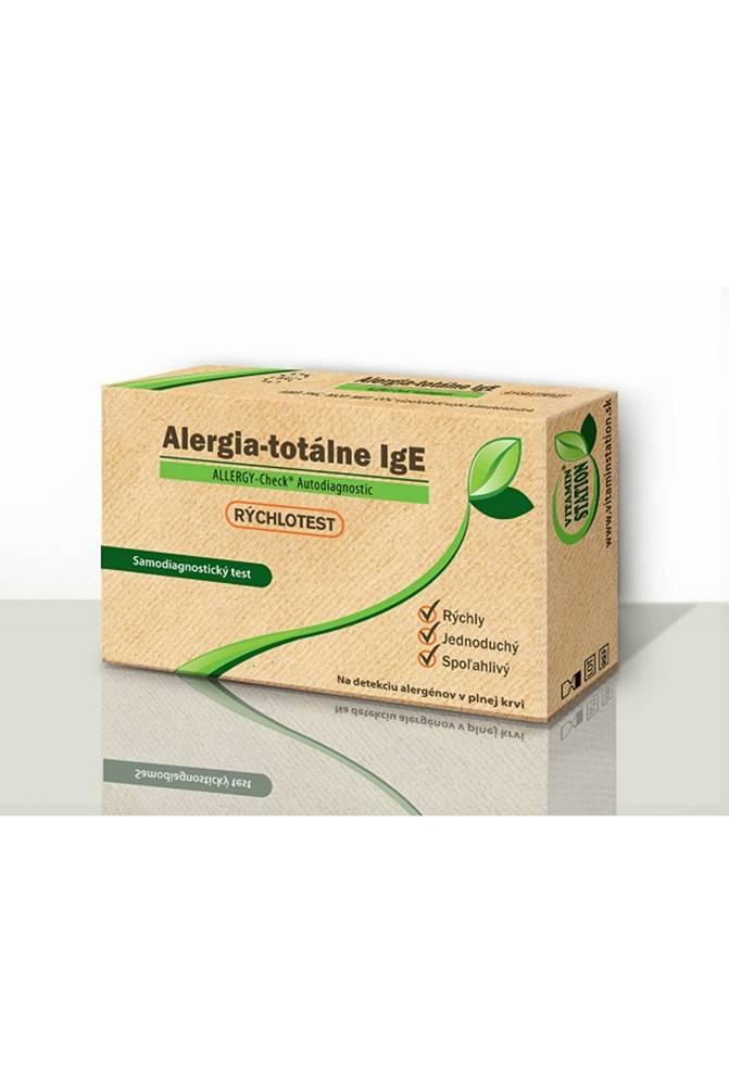 VITAMIN STATION Rýchlotest Alergia-totálne IgE samodiagnostický test z krvi, 1x1 set
