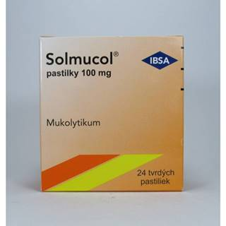 Solmucol 100 mg pastilky 24 past