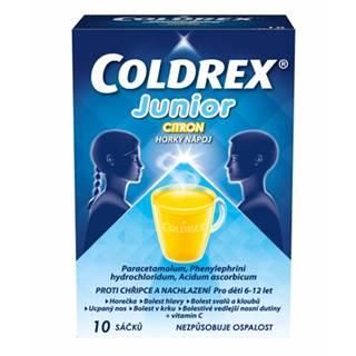 Coldrex Junior horúci nápoj citrón 10 vrecúšok