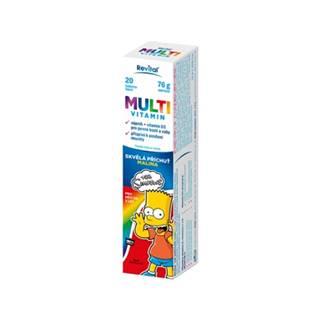 Revital Multivitamín The Simpsons s príchuťou malina 20 šumivých tabliet