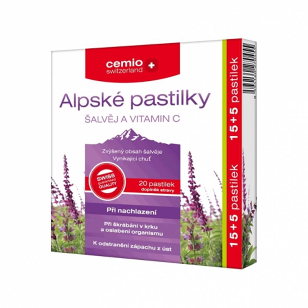 Cemio Alpské pastilky Šalvia a vitamín C 15+5 pastiliek