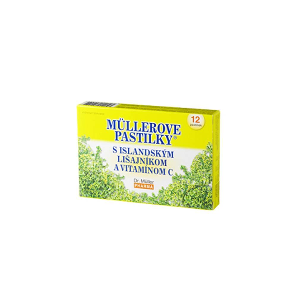 Müllerove pastilky s Islandským lišajníkom a vitamínom C 30+6 past