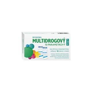 Biogema Multidrogový test na stanovenie drog v moči 10 parametrový