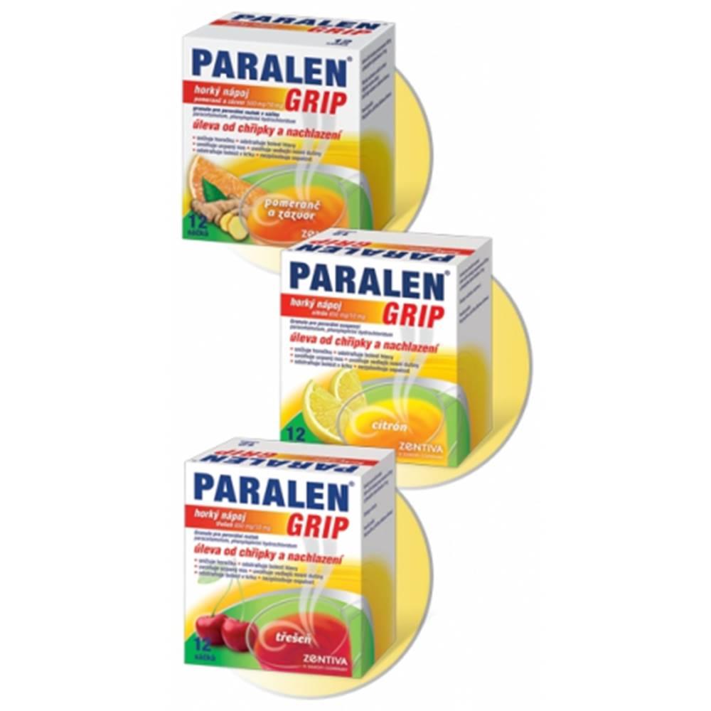 Paralen Grip horúci nápoj Pomaranč a zázvor 12 sáčkov