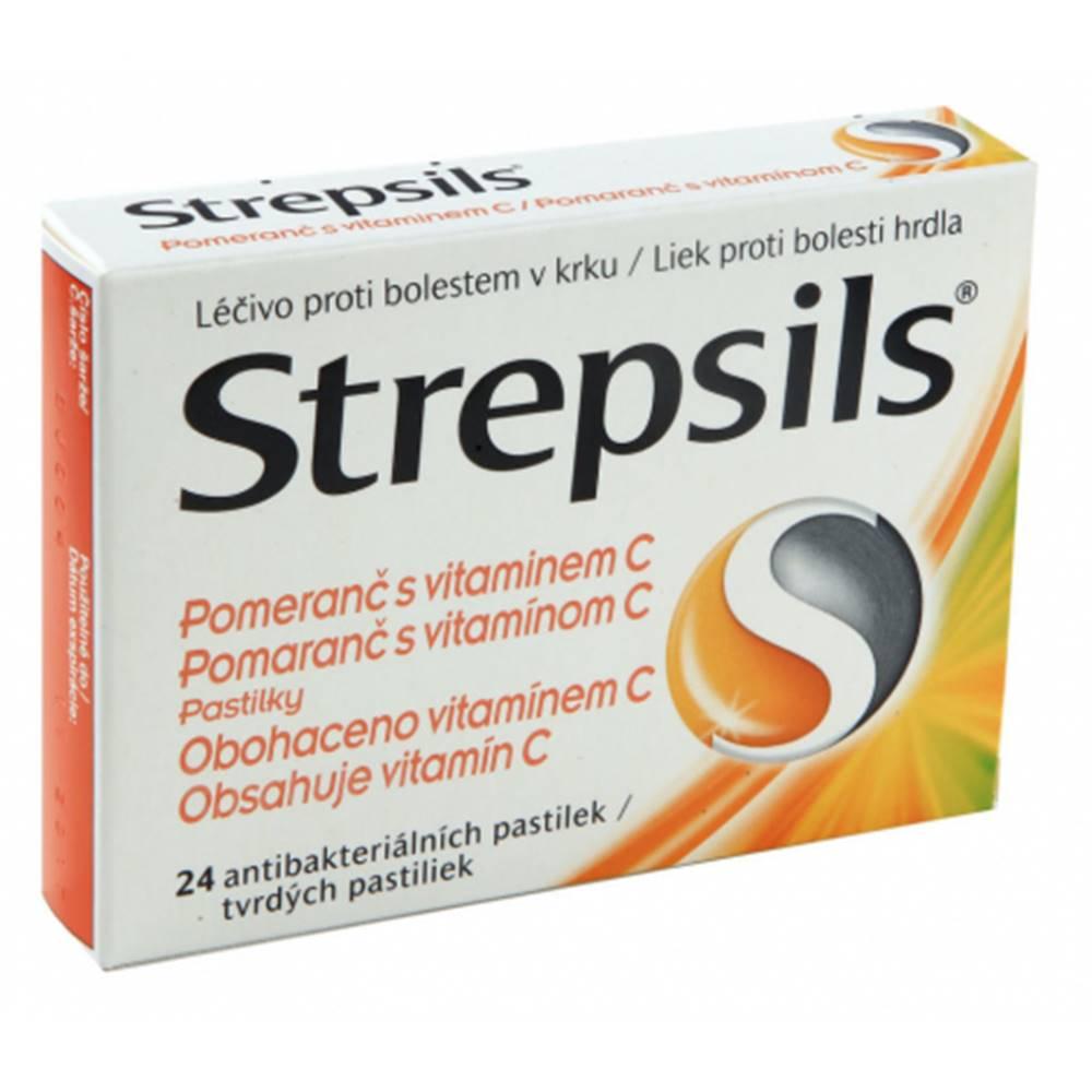 STREPSILS Pomaranč s vitamínom C 24 past