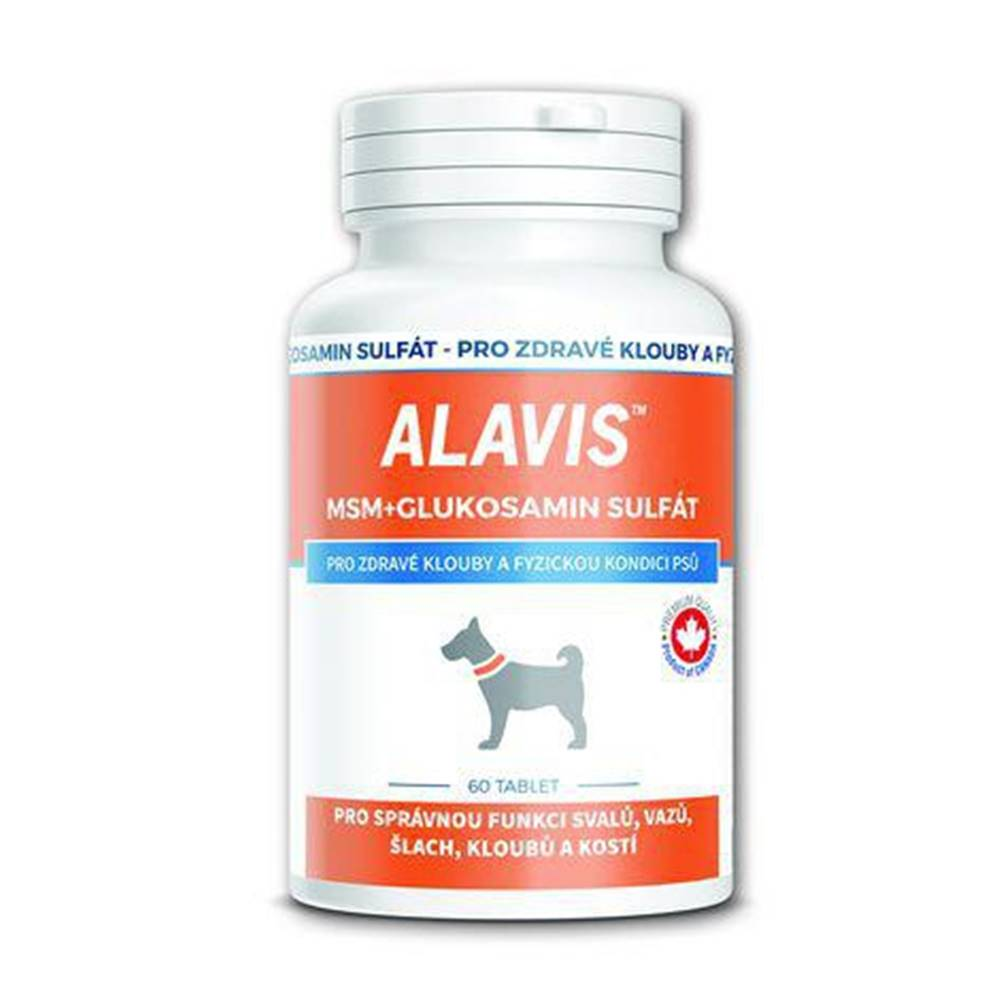 Alavis MSM + glukosamín sulfát pre psov 60 tabliet