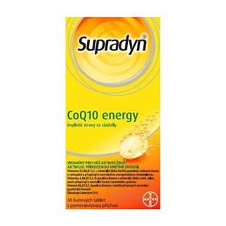Supradyn CoQ10 Energy šumivé tablety s pomarančovou príchuťou 30 ks