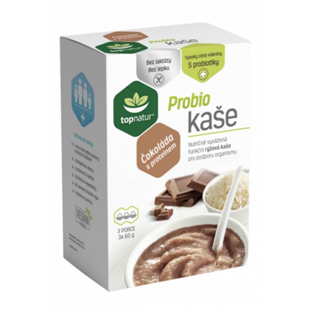 Topnatur Probio ryžová kaša Čokoláda s proteínom 3x60 g
