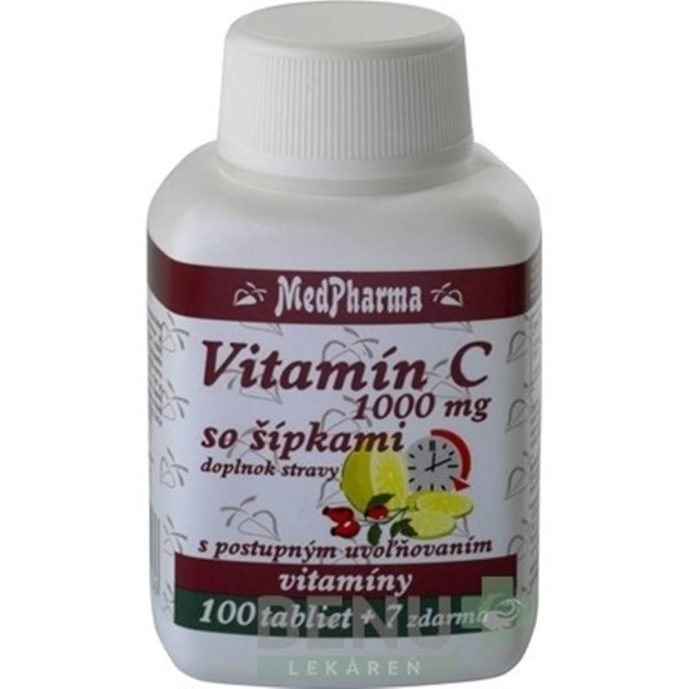 Medpharma MEDPHARMA Vitamín C 1000 mg so šípkami 100 + 7 tabliet ZADARMO