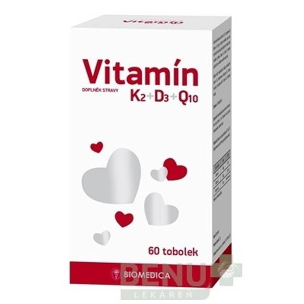 Biomedica BIOMEDICA Vitamín K2+D3+Q10 cps 1x60