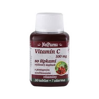 MEDPHARMA Vitamín C 500 mg so šípkami 30 + 7 tabliet ZADARMO