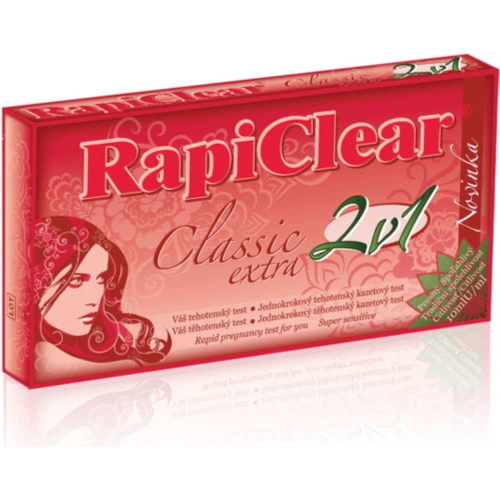 Rapiclear RapiClear Tehotenský test Classic extra 2v1 2ks