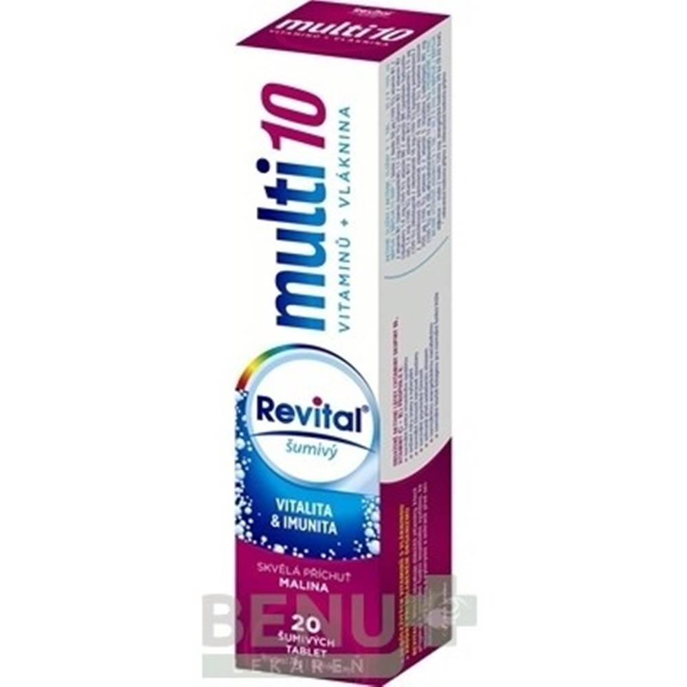 Revital REVITAL Multi 10 vitamínov + vláknina, malina 20 šumivých tabliet
