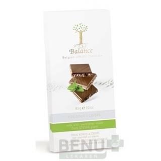 BALANCE Mliečna čokoláda so sladidlom zo stévie s príchuťou kokos a chrumkami 85 g