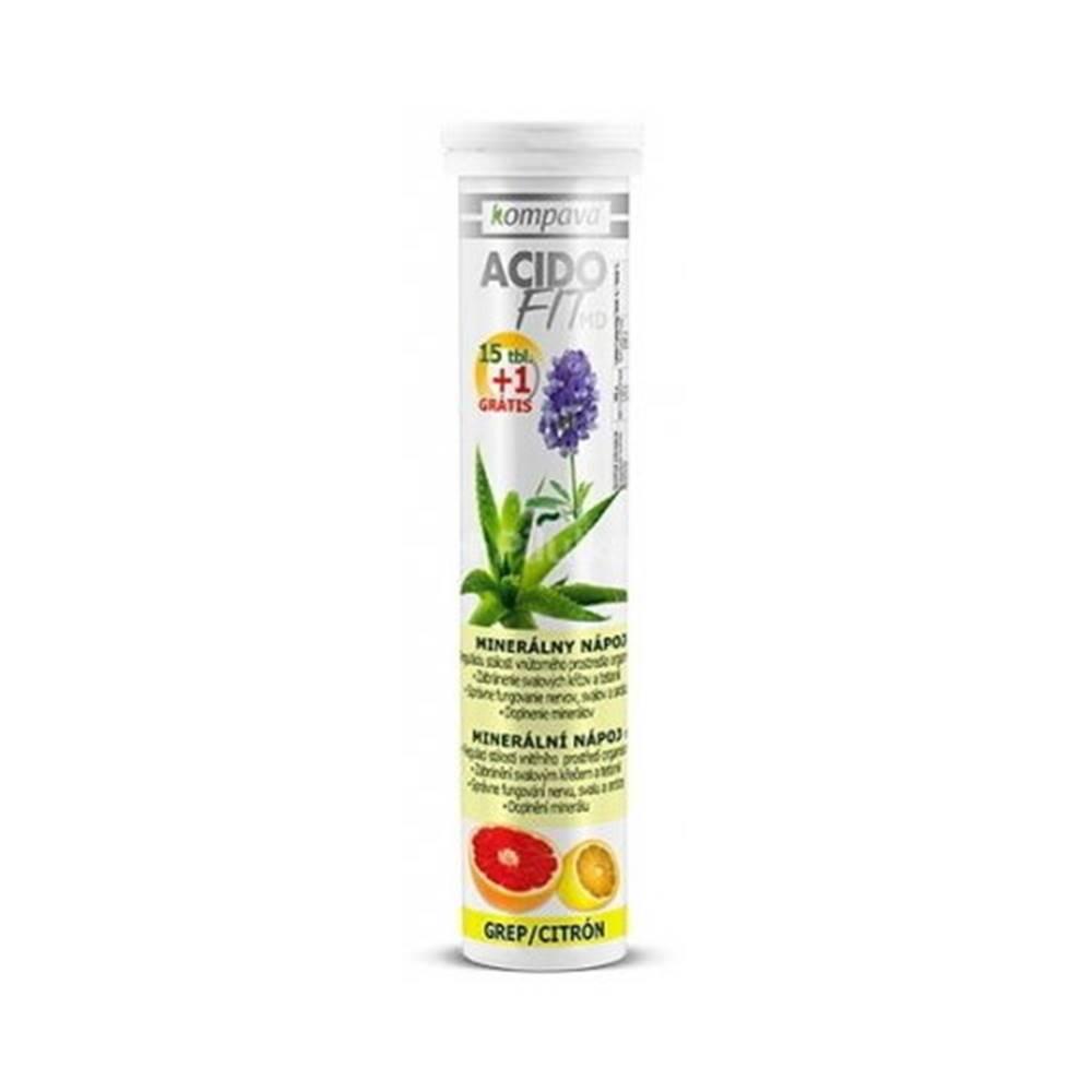 Kompava KOMPAVA Acidofit MD citrón grep 15 šumivých tabliet + 1 ZADARMO