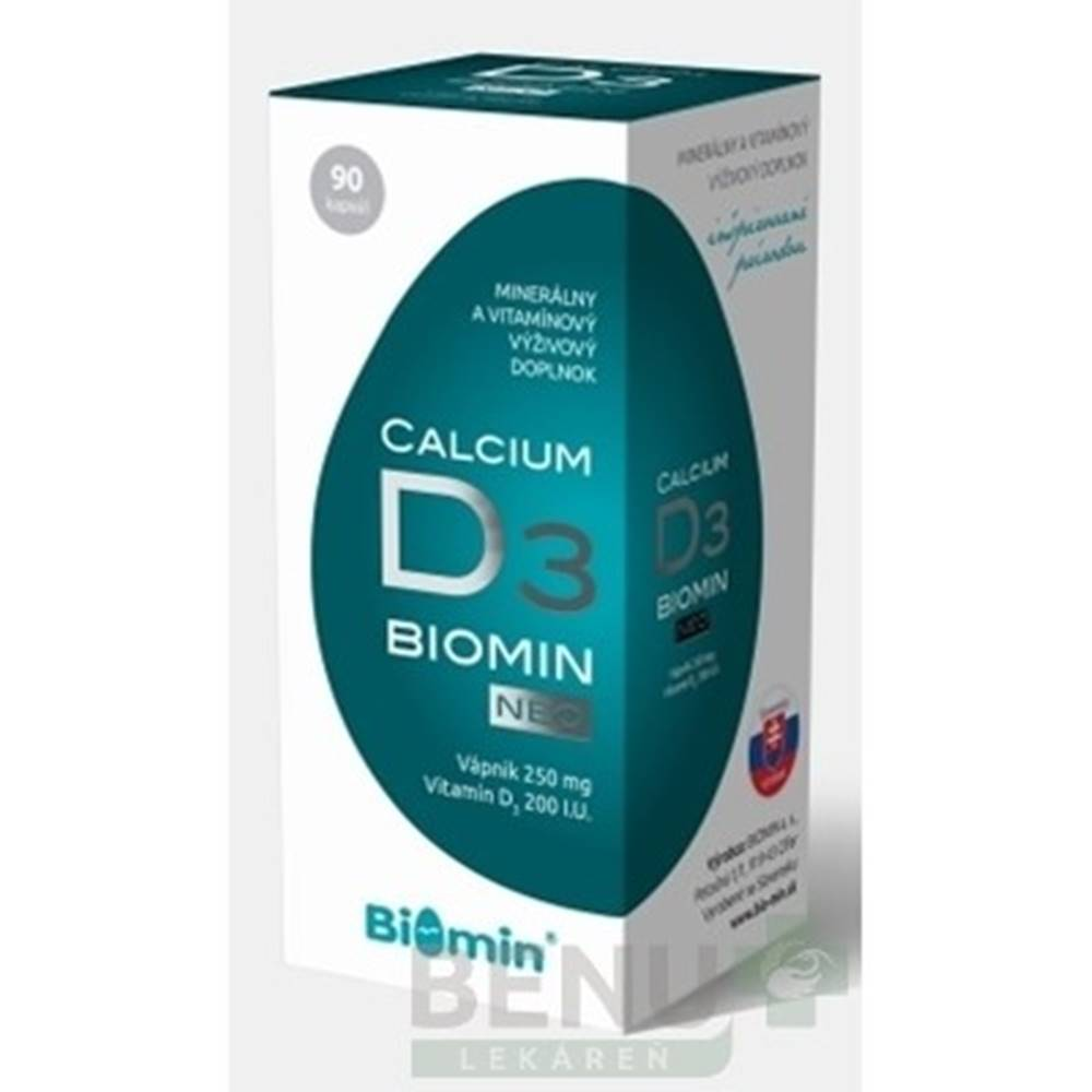 Biomin BIOMIN Calcium neo s vitamínom D3 90 tabliet