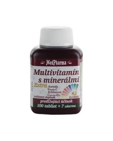 MEDPHARMA Multivitamín s minerálmi 42 zložiek + extra C, Q10 100 + 7 tabliet ZADARMO