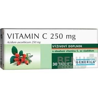 GENERICA Vitamín C 250 mg 30 tabliet