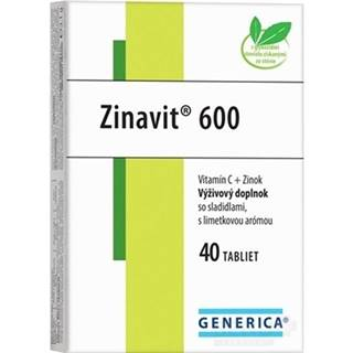 GENERICA Zinavit 600 s limetkovou arómou tbl 40
