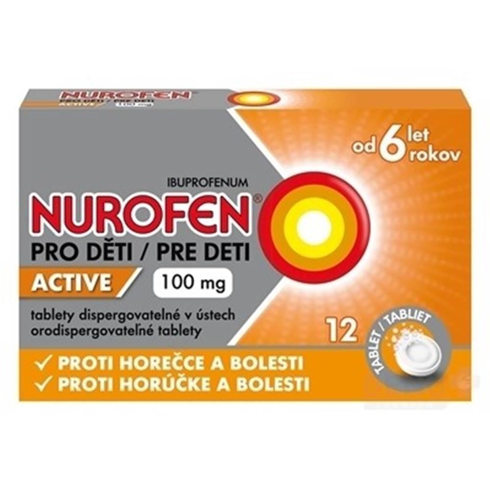 NUROFEN NUROFEN Active pre deti 100 mg 12 tabliet