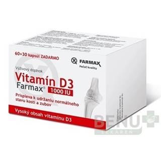 FARMAX Vitamín D3 1000 IU 60 + 30 tabliet ZADARMO
