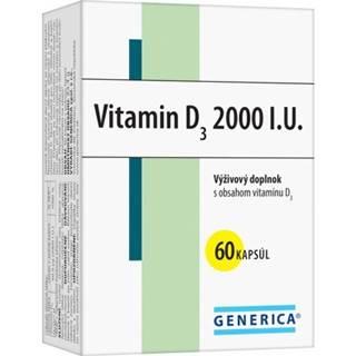 GENERICA Vitamin D3 2000 I.U. cps 60