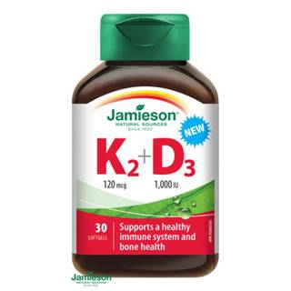 JAMIESON VITAMÍNY K2 120 µg + D3 1000 IU cps 30