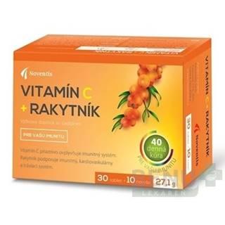 Noventis Vitamín C + Rakytník tbl 40